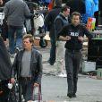 Ryan Reynolds et Kevin Bacon sur le tournage de  R.I.P.D  à Boston, le 22 octobre 2011.