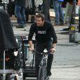 Ryan Reynolds sur le tournage de  R.I.P.D  à Boston, le 22 octobre 2011.