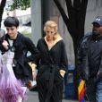 Blake Lively sur le tournage de  Gossip Girl  à New York, le 12 octobre 2011.