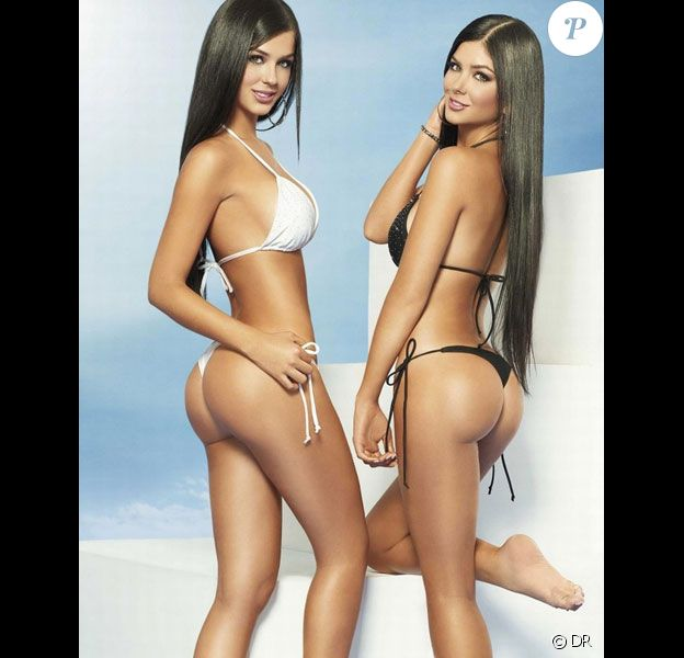 Campagne promotionnelle de la marque de maillot de bain Besame avec les jumelles Camila et Mariana Davalos : elles font tourner toutes les têtes