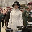 Le 1er novembre 2011, la princesse Mary de Danemark accompagnait son époux le prince Frederik à la base militaire d'Aalborg pour le 50e anniversaire des Forces Spéciales danoises, à la veille de la venue de William et Kate.
