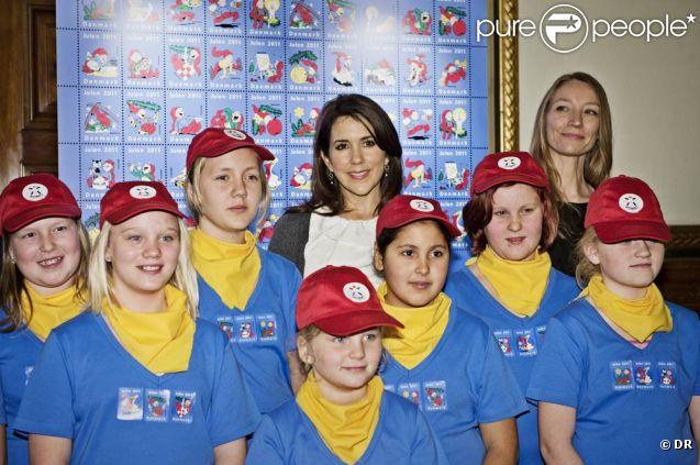 Princess Mary Danii na rozpoczęcie 2011 Świątecznej Seals Ratusza w Kopenhadze 31 października 2011.