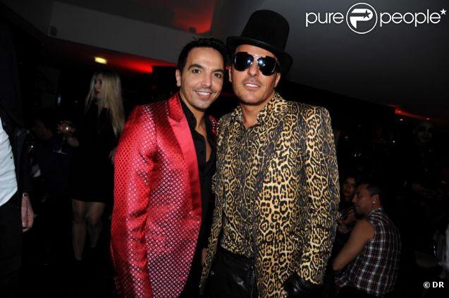 Kamel Ouali et Jean-Roch au VIP ROOM Theater pour la soirée Halloween à Paris le 31 octobre 2011