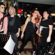 Florent Torres, Gregory Deck, Anaïs Delva et Lola Ces au VIP ROOM Theater pour la soirée Halloween à Paris le 31 octobre 2011