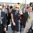 Toujours très bien habillée pour se rendre au tribunal, Lindsay Lohan se la joue rétro avec cette robe à pois. Los Angeles, le 2 novembre 2011.