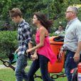 Justin Bieber avec Selena Gomez, à Rio de Janeiro, en octobre 2011.