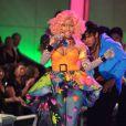 Nicki Minaj a interprété son titre Superbass pour un final 100% féminin. New York, le 9 novembre 2011.
