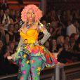 Nicki Minaj en pleine performance de son tube Superbass lors du défilé Victoria's Secret. New York, le 9 novembre 2011.