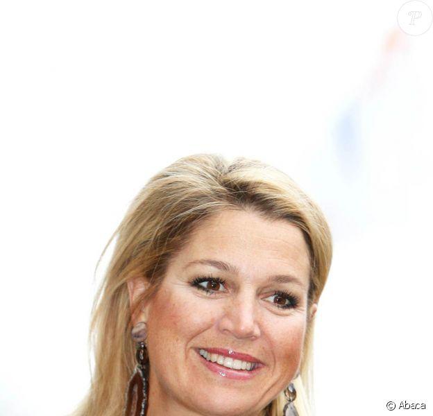 La princesse Maxima des Pays-Bas à la Monnaie royale d'Utrecht dans le cadre de la Semaine de l'Argent, le 10 novembre 2011.