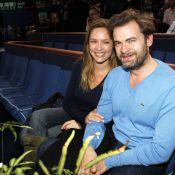 Clovis Cornillac et Jean-Luc Delarue avec leurs chéries pour Federer et Tsonga