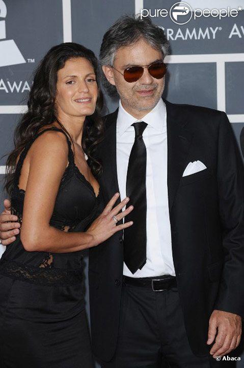 Andrea Bocelli et sa compagne Veronica Berti en janvier 2010 à Los Angeles