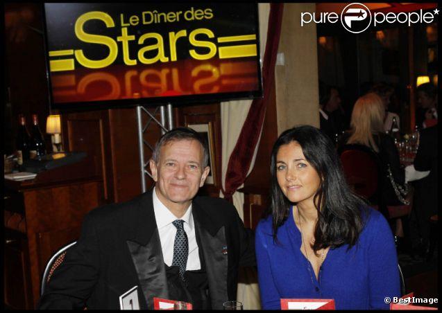 Francis Huster et Cristiana Reali lors du Dîner des stars organisé par le Dr Pierre Huth au profit du dépistage du cancer à l'institut Fournier le 14 novemnre 2011 au Fouquet's