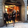 Madalina Diana Ghenea dans la boutique Chopard à Milan le 2 novembre 2011