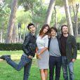 Madalina Diana Ghenea en compagnie de Fabrizio Biggio et Francesco Mandelli à la présentation du film I Soliti Idioti durant le 6ème Festival du Film International de Rome, le 3 novembre 2011