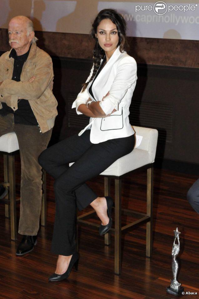 Madalina Diana Ghenea assiste à la conférence de presse du Capri Hollywood 2011 à Milan le 21 novembre 2011