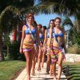 Les Miss s'offrent un moment de détente et un massage à Cancun au Mexique en novembre 2011