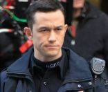 Joseph Gordlon-Levitt sur le tournage de The Dark Knight Rises, le 28 octobre 2011 à New York.