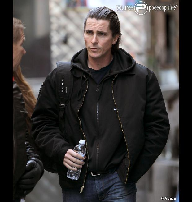 Christian Bale sur le tournage de The Dark Knight Rises le 5 novembre 2011 à New York.