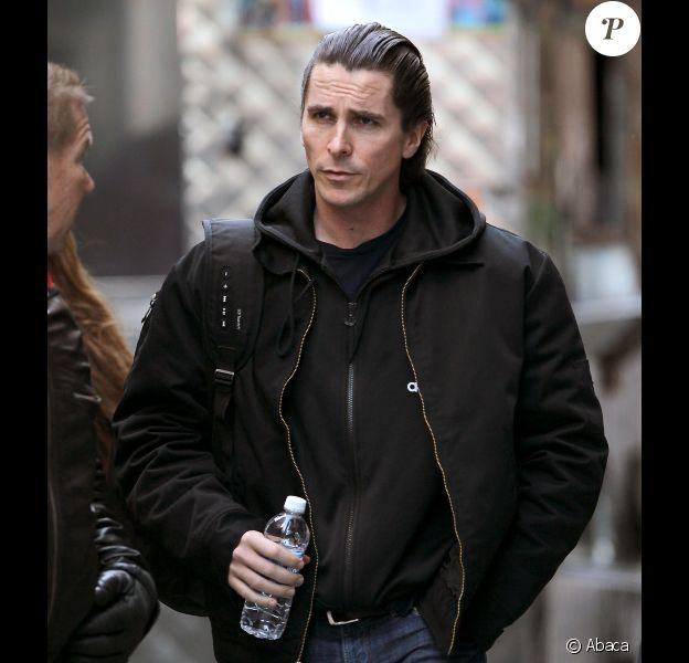 Christian Bale sur le tournage de The Dark Knight Rises le 5 novembre 2011 à New York.