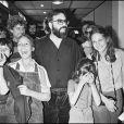 Francis Ford Coppola et ses enfants Roman, Mary et Sofia à Cannes en 1979.