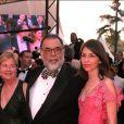 Francis Ford Coppola avec Eleanor et Sofia, à Cannes, le 10 mai 2001 à Cannes.