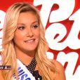 Miss Prestige National Christelle Roca sur le plateau du Petit Journal de Yann Barthès pour répondre aux 5 Questions le lundi 5 décembre 2011 sur Canal +