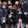 Famille de François Lesage aux obsèques de ce dernier. Le mercredi 7 décembre 2011 à Paris. Eglise Saint-Roch.