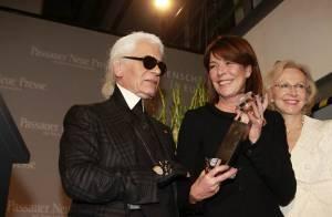 La princesse Caroline de Monaco radieuse, récompensée par son ami Karl Lagerfeld