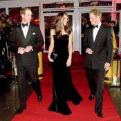 Kate Middleton bijou de velours noir étourdissant, le prince Harry bouleversant