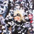 Lady Gaga live pour le Nouvel An à Time Square, New York, le 31 décembre 2011.