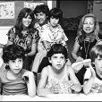 Jane Fonda et son mari de l'époque Tom Hayden à Jérusalem visitant une école en 1980