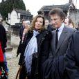 Valérie Trieweiler et Jack Lang pour le 16e anniversaire de la mort de François Mitterrand à Jarnac, le 8 janvier 2012.