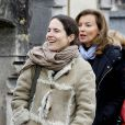 Valérie Trieweiler et Mazarine Pingeot pour le 16e anniversaire de la mort de François Mitterrand à Jarnac, le 8 janvier 2012.