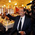 François Hollande présente ses voeux dans son fief de Tulle, le 7 janvier 2011.