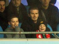 David Beckham de retour aux sources avec ses enfants en fans passionnés