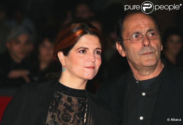 Agnès Jaoui et Jean-Pierre Bacri en octobre 2008, lors de la présentation de  Parlez-moi de la pluie  au festival de Rome.