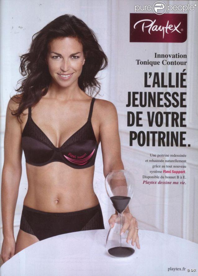 La superbe Aurélie Anger prend la pose pour Playtex en 2012