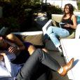 Chloé Mortaud et Romain Thiévin à Las Vegas posent en amoureux