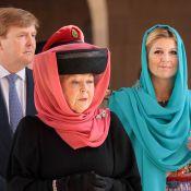 La princesse Maxima éclatante pour la fin du séjour dans la péninsule arabique