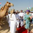 Après le port de Sohar, la reine Beatrix, le prince Willem-Alexander et la princesse Maxima des  Pays-Bas ont visité la forteresse de Nakhal le 11 janvier 2012, lors de leur visite officielle de trois jours au sultanat  d'Oman.