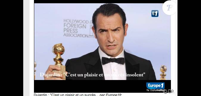 Jean dujardin en interview pour europe 1 peu apr s l for 94 jean dujardin