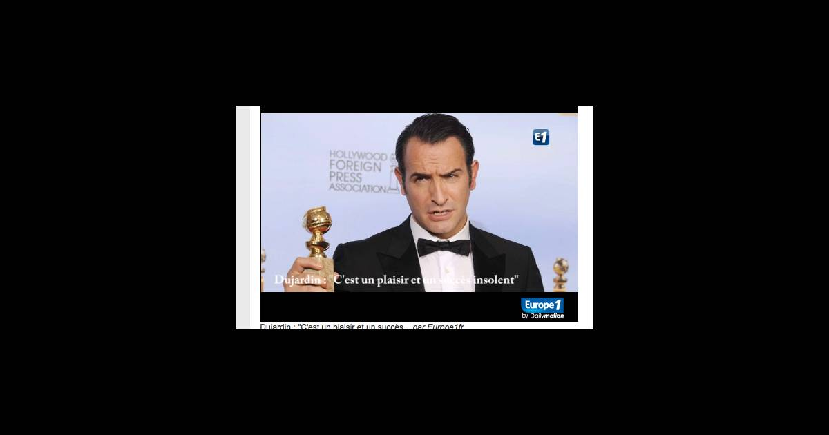 Jean dujardin en interview pour europe 1 peu apr s l for Jean dujardin interview