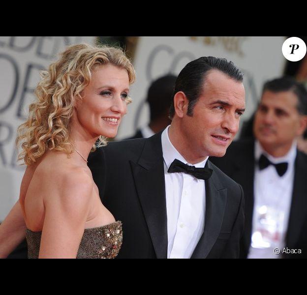 Alexandra Lamy et Jean Dujardin lors des Golden Globes à Beverly Hills le 15 janvier 2012