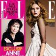 Anne Sinclair en couvertue de  ELLE  magazine, en kiosques le 19 janvier 2011.