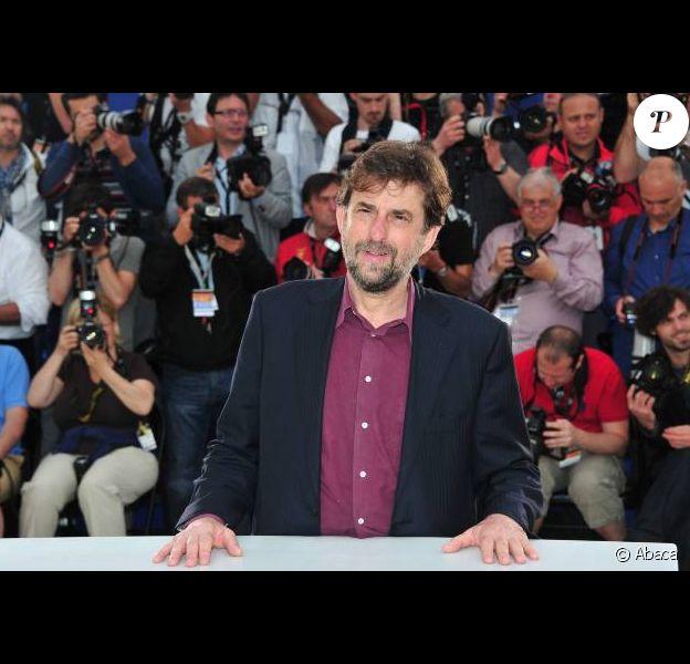 Nanni Moretti lors du photocall de son film Habemus Papam au festival de Cannes 2011