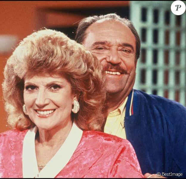 Rosy Varte et Jean-Marc Thibault sur le plateau de la série Maguy, en 1987.