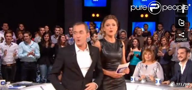 Christophe Dechavanne et Sandrine Quétier présentent Les 100 plus grands... le 20 janvier 2012