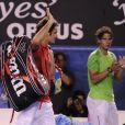 Roger Federer et Rafael Nadal le 26 janvier 2012 à Melbourne lors de leur demi-finale gagnée par l'Espagnol lors de l'Open d'Australie