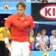 Charlene Riva et Myla Rose, les deux jumelles de Roger Federer le 26 janvier 2012 à Melbourne ont vainement encouragé leur papa lors de sa demi-finale perdue face à Rafael Nadal