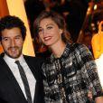 """Francesco Scianna et Margareth Made lors de l'inauguration de la """"Maison Rome Étoile"""", nouvelle boutique Louis Vuitton à Rome, le 27 janvier 2012"""